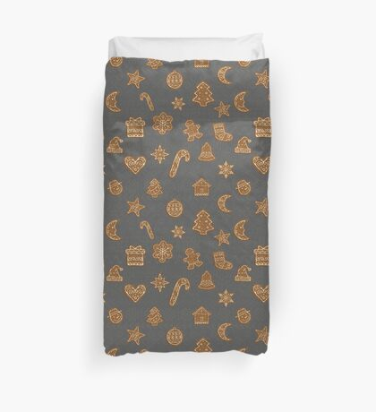 Gingerbread christmas cookies Duvet Cover