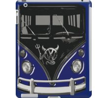 Navy Blue Camper Van With Devil Emblem Art iPad Case/Skin