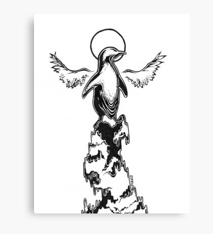 The philosophizing penguin Canvas Print