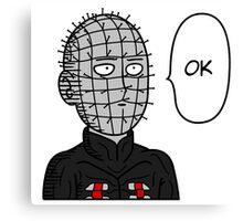One Punch Pinhead Canvas Print