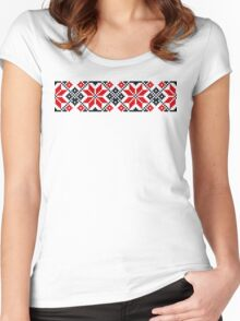 Traditional pattern 05  Women's Fitted Scoop T-Shirt