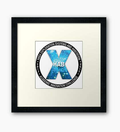 X-Hab 2017 Competition Logo Framed Print