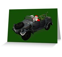 Santa Claus In Kübelwagen Greeting Card