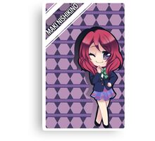 school girl anime chibi Canvas Print