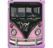 Pink Camper Van With Devil Emblem iPad Case/Skin