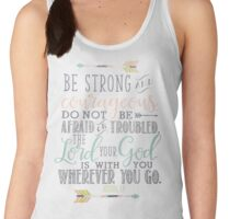 Joshua 1:9 Bible Verse Women's Tank Top