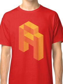 Isometric orange letter A Classic T-Shirt