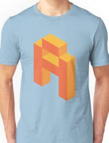 Isometric orange letter A Unisex T-Shirt