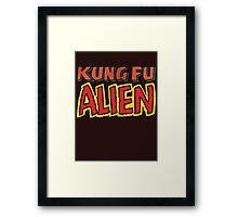 kung fu alien Framed Print