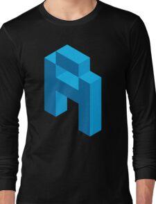 Isometric blue letter A Long Sleeve T-Shirt