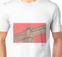The Angel of the North - Red Unisex T-Shirt