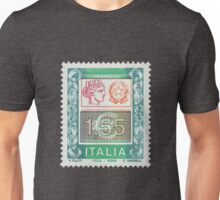 Italia Postage Stamp Print  Unisex T-Shirt
