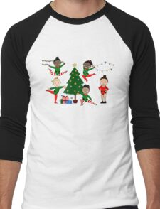 Final Five Christmas Men's Baseball ¾ T-Shirt
