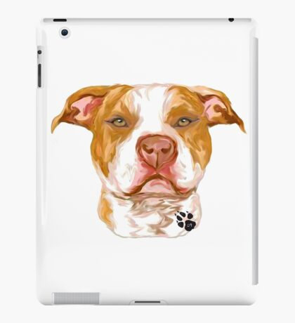 Pit Bull Red iPad Case/Skin