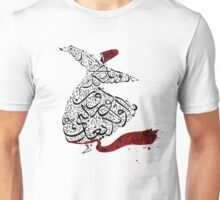 Rumi Calligraphy Red Unisex T-Shirt