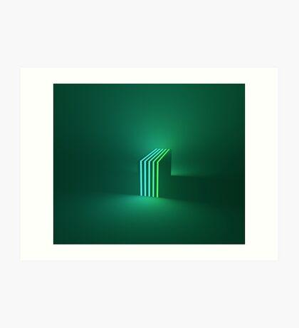 Green Gradient Art Print