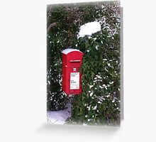 Winter Postbox Greeting Card