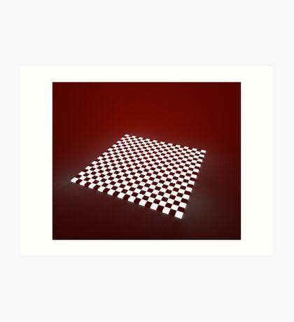 Red Chessboard Art Print