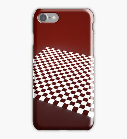 Red Chessboard iPhone Case/Skin