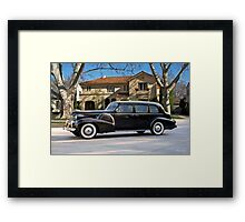 1939 Cadillac Fleetwood 7519 Sedan Framed Print
