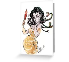 Madusa Problems Greeting Card