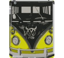Yellow Camper Van With Devil Emblem Art iPad Case/Skin