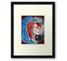 astronomy redhead  Framed Print