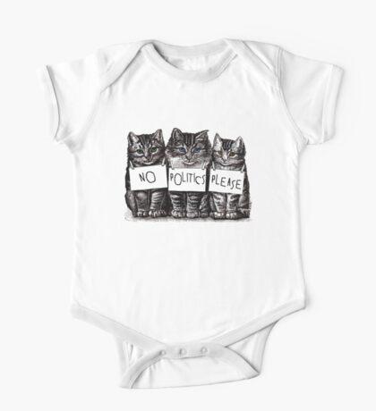 Three Little Kittens No Politics Please One Piece - Short Sleeve