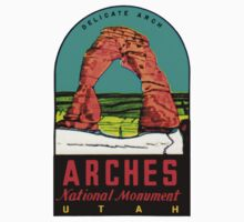 Arches National Monument Utah Moab Vintage Travel Decal Kids Tee