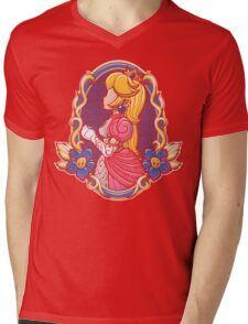 Stained-Glass Peach Mens V-Neck T-Shirt