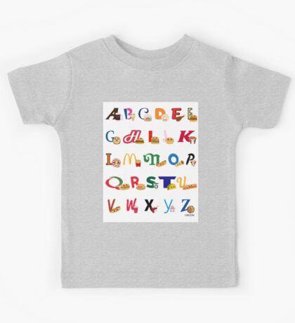 Fast Food Alphabet Kids Tee