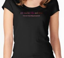 Women's & Girls - All I Need Is Coffee & Shoes Women's Fitted Scoop T-Shirt