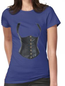 Leather Corset Womens Fitted T-Shirt