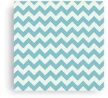 Blue retro Chevron pattern  Canvas Print