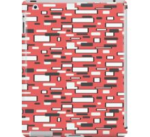 Retro coral gray white geometric pattern   iPad Case/Skin