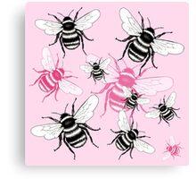 Pinky Bee Canvas Print