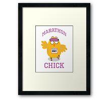 Marathon Chick Framed Print