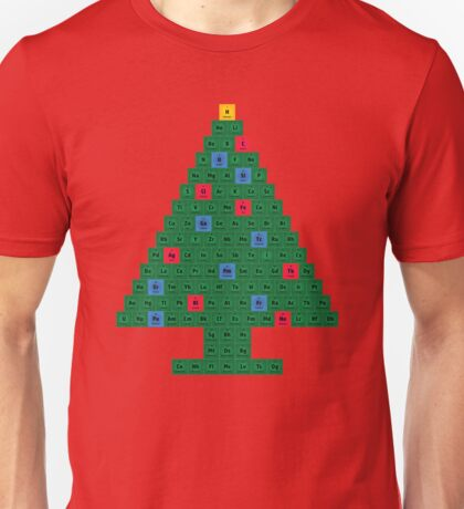 Chemistry Christmas Tree Periodic Table T-Shirt