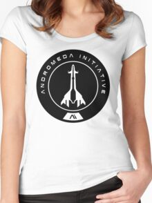 Andromeda Initiative - Black Logo Women's Fitted Scoop T-Shirt