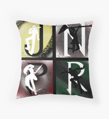 JNPR 4 Way Combo Characters Throw Pillow