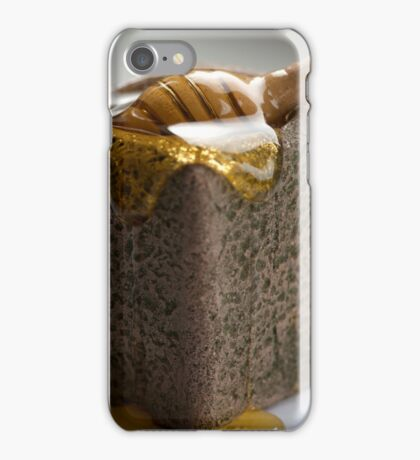 Honey dripping over stone jar iPhone Case/Skin