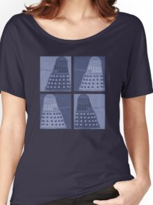 Daleks in negatives - blue Women's Relaxed Fit T-Shirt