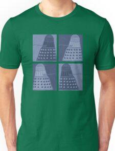 Daleks in negatives - blue Unisex T-Shirt