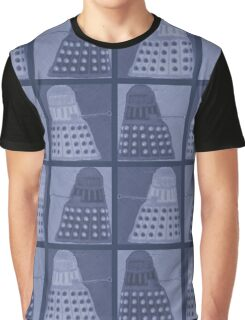 Daleks in negatives - blue Graphic T-Shirt