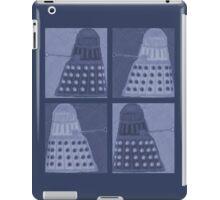 Daleks in negatives - blue iPad Case/Skin