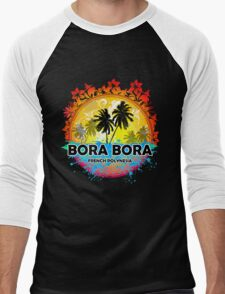 Bora Bora Sunset Style Men's Baseball ¾ T-Shirt