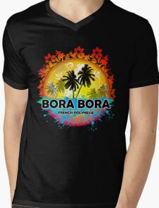 Bora Bora Sunset Style Mens V-Neck T-Shirt