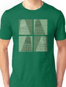 Daleks in negatives - green Unisex T-Shirt