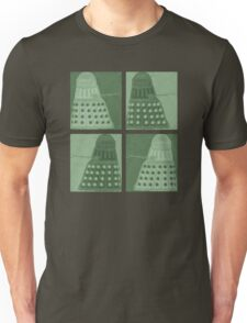 Daleks in negatives - green Unisex T-Shirt
