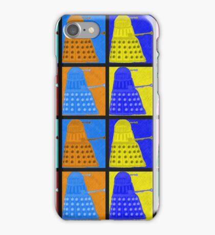 Pop art Daleks - variant 2 iPhone Case/Skin